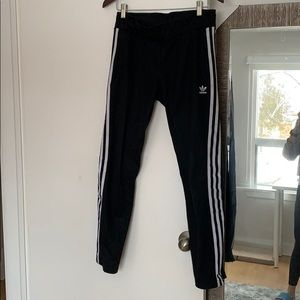 Adidas stripped track pants black and white